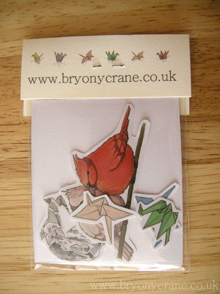 Origami Cranes Mirror and Stickers Pack - product image