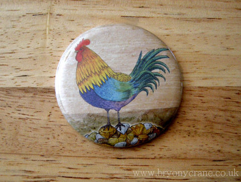 Cockerel,Mirror,and,Stickers,Pack,Accessories,Animal,pocket_mirror,mirror,small_mirror,illustrated_mirror,illustration,gift,stickers,bird_stickers,cockerel,chicken,rooster,rooster_illustration,aesops_fables,cellophane_and_card_packaging,badge_mirror