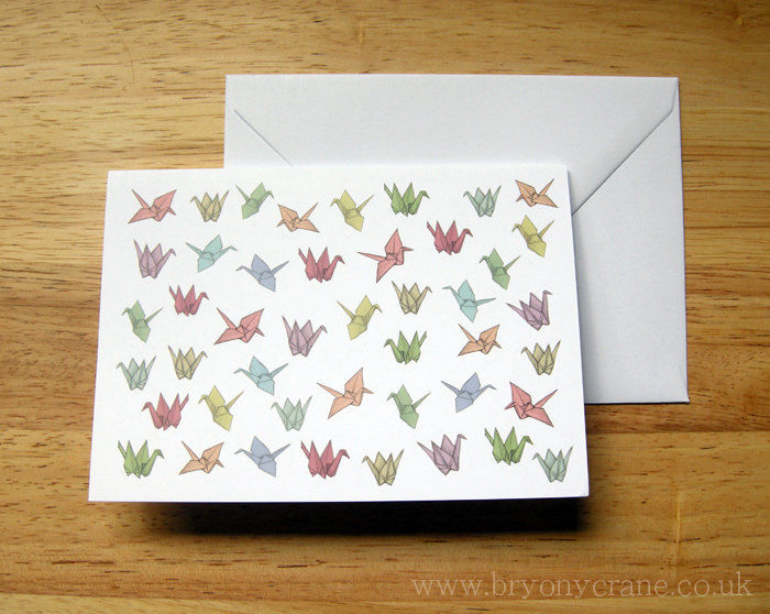 Origami Cranes Greetings Card - product images