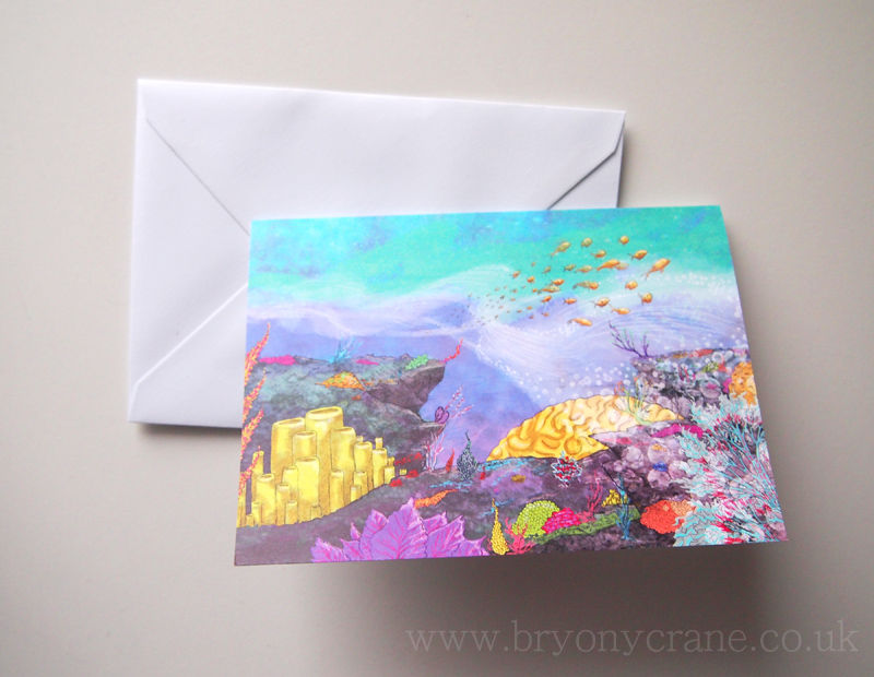 Illustrated Greetings Card - Coral Reef - product images