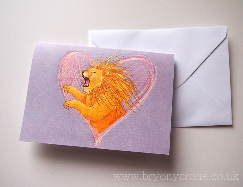 Illustrated Greetings Card - Lionheart - product images