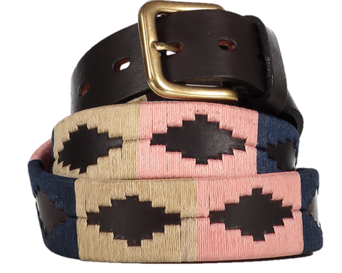 Rosa,Polo,Belt,Polo Belt, Argentine Belts, Argentinian Belts, Polo Belts, Belts, Estribos, Estribos Argentina, Gaucho Belts, Leather Belts, Gaucho Belt, Pampeano, Pioneros, Polka Dot Pie, Daltons, Guarda Pampa, Argentina, Leather, Polo