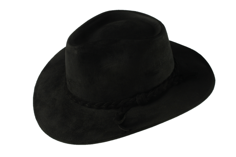 Black Fer Suede Leather Hat - product images