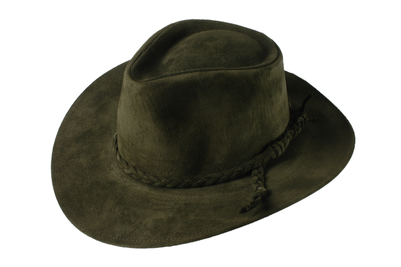 Green Fer Suede Leather Hat - product images