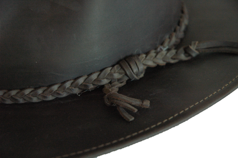 Brown Fer Waxed Leather Hat - product image