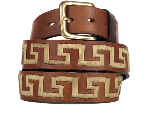 Felipe,Crema,Polo,Belt,Greek key, greek pattern, Felipe Crema Belt, Felipe Crema, Polo Belt, Argentine Belts, Argentinian Belts, Polo Belts, Belts, Estribos, Estribos Argentina, Gaucho Belts, Leather Belts, Gaucho Belt, Pampeano, Pioneros, Polka Dot Pie, Daltons, Guarda Pampa,