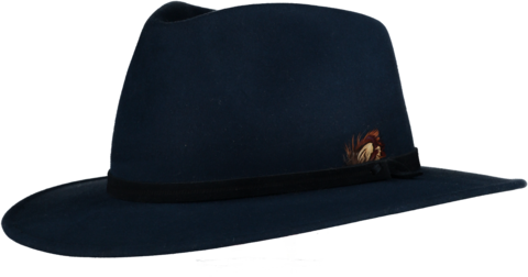 Blue,Fur,Felt,Fedora,Felt Hat, Blue Hat, Waterproof Hat, Argentine Hats, Argentinian Hats, Suede Hats, Leather Hats, Waterproof Hats, Estribos, Estribos Argentina, Polo Belts, Estribos Polo Belts