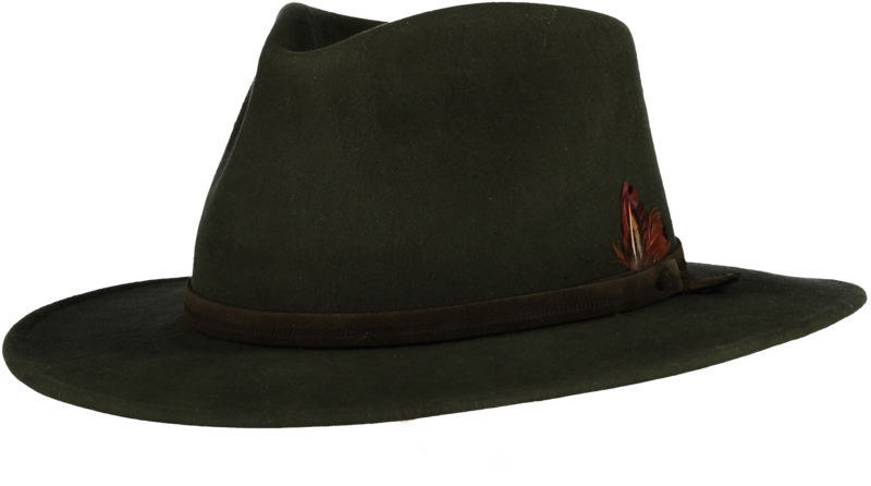 Green Fur Felt Fedora - product images