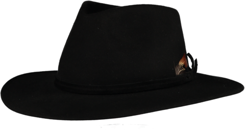 Black,Fur,Felt,Fedora,Felt Hat, Black Hat, Waterproof Hat, Argentine Hats, Argentinian Hats, Suede Hats, Leather Hats, Waterproof Hats, Estribos, Estribos Argentina, Polo Belts, Estribos Polo Belts