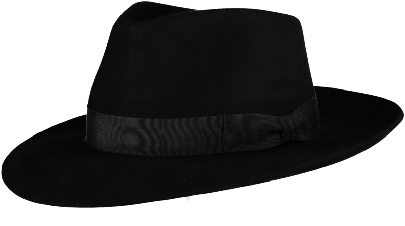 Black Ha Fur Felt Hat - product image