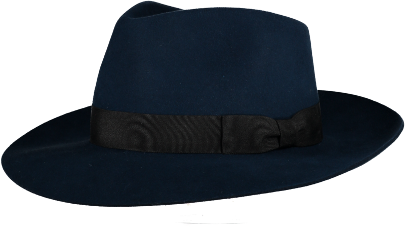 Blue 'Ha' Fur Felt Hat - product image