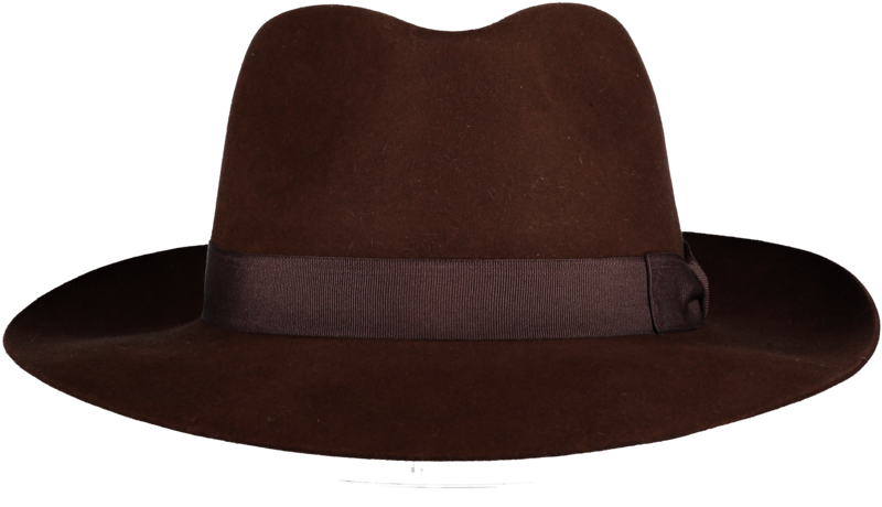 Brown 'Ha' Fur Felt Hat - product image