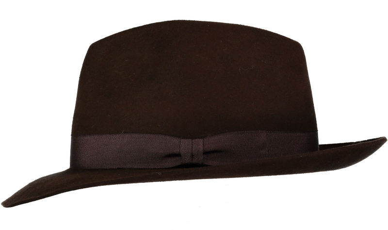 Brown Andres Fur Felt Trilby - product image