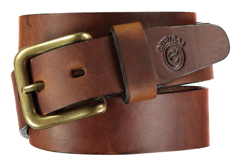 Plain Tobacco Stirrup Leather Belt - product images