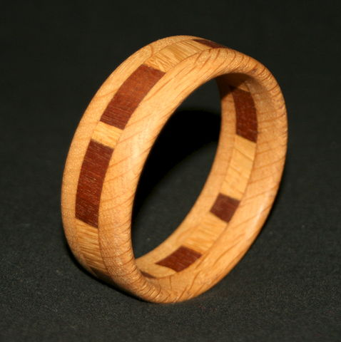 Wooden,Bangle,Segmented,with,Mahogany,&,English,Oak,(narrow),Wooden Bangle, wooden bracelet