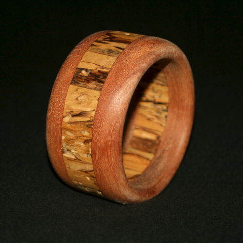Wooden,Bangle,Segmented,with,Mahogany,&,Spalted,Birch,Wooden Bangle, hardwood bangle, wood bracelet,