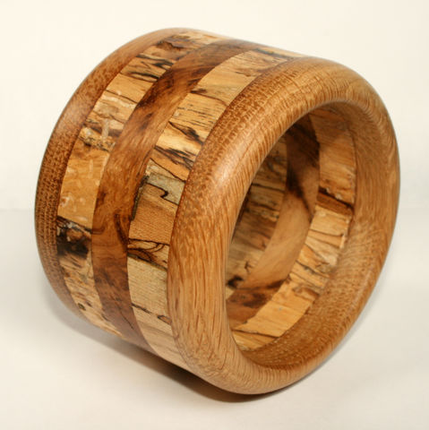 Hardwood,Bangle,in,Oak,,Spalted,Birch,&,Oak,Burr, Bracelet, Wood Bangle, Oak, Spalted Birch, Jewellery, Jewelry, Rustic Jewellery, Wooden Bangle, Wood Bracelet, Rustic Bangle