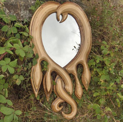 Love,Heart,Mirror,mirror, love heart mirror, plywood mirror, wall art, wall hanging, sculpture