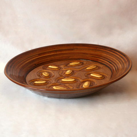 Knobbly,Fruit,Bowl,Fruit Bowl, Salad Bowl, Table decoration, Table ware, wood bowl, sculpture, carving, Plywood Bowl, handmade, display bowl, knobbly bowl, serving platter
