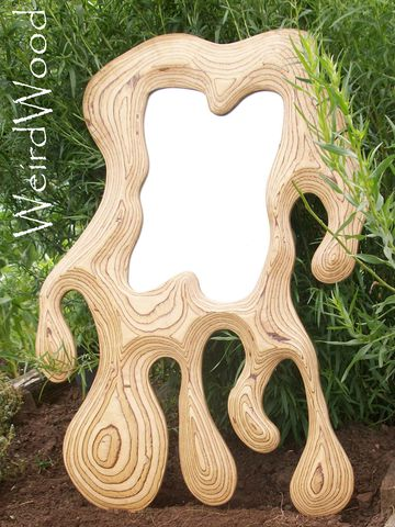 Melting,Mirror,mirror,plywood mirror, overmantle mirror, hand carved, sculpture, carving, wall hanging