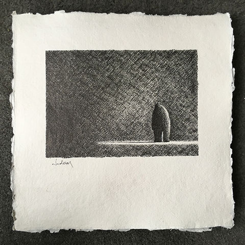Waiting,In,The,Shadows,Original ink on paper