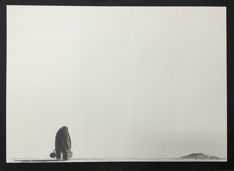 Returning,(graphite),Original graphite on paper