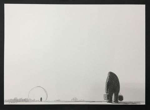 Wanderer,(graphite),Original graphite on paper