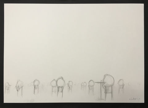Spoons,(graphite),Original graphite on paper