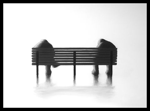 The,Bench,II,(mini),Giclee print on paper