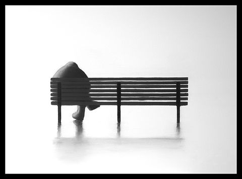 The,Bench,I,(mini),Giclee print on paper