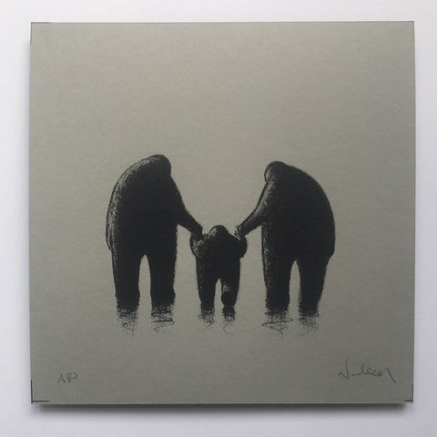 Mummy,,Daddy,&,Me,(limited,edition,grey),mini,Screenprint