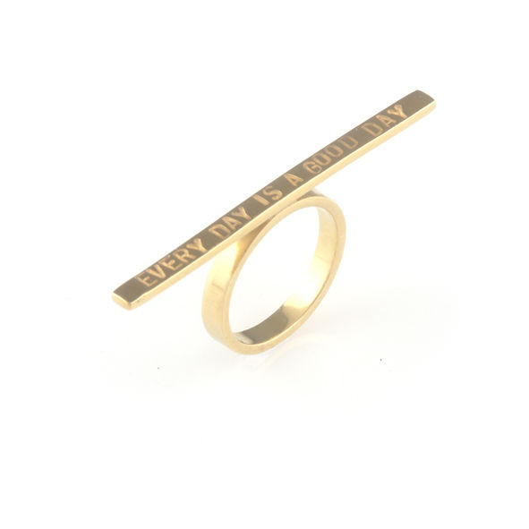 'Every day is a good day' - 3mm silver ring with wording 'every day is a good day' - product images  of
