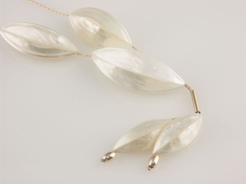 'Pearl Wonder' - silver necklace with mother of pearls - product images  of