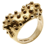 Silver ring with silver droplets - product images  of