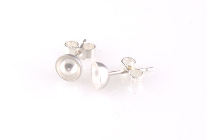 'Special,Offer',-,Silver,round,bowl,ear,stud,silver jewellery, contemporary jewellery, earrings