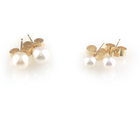 'Pearl,Wonder',-,gold,Akoya,pearls,ear,studs,gold jewellery, contemporary jewellery, bridal jewellery, wedding, earrings, pearls, akoya pearls