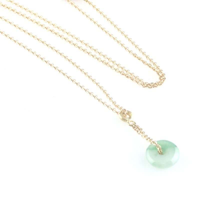 'Bridal & Bespoke' - Gold necklace with jade pendant - product images  of