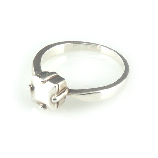 'Daimond Temptation' - silver princess cut diamond shaped ring - product images  of