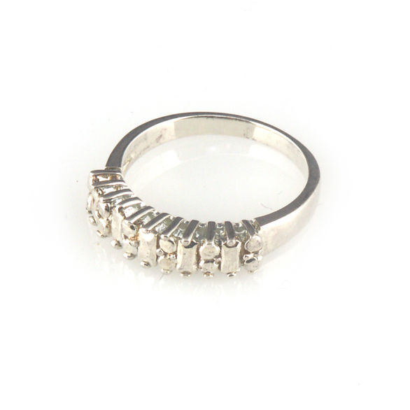 'Daimond Temptation' -  silver diamond band ring - product images  of