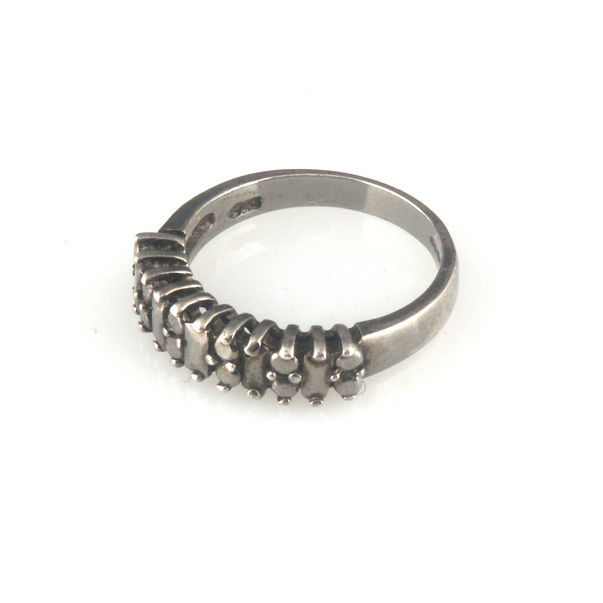 'Daimond Temptation' - black silver diamond band ring - product images  of