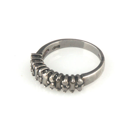 'Diamond,Temptation',-,black,silver,diamond,band,ring,silver jewellery, contemporary jewellery, ring