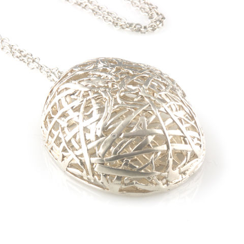 'Best,Before',-,silver,big,egg,neclace,with,diamond,silver jewellery, contemporary jewellery, necklace, pendant, diamond, silver egg pendant, egg necklace