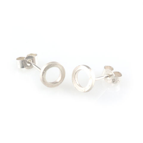 'Special,Offer',-,Silver,round,circle,ear,stud,silver jewellery, contemporary jewellery, earrings, ear stud, silver ear stud