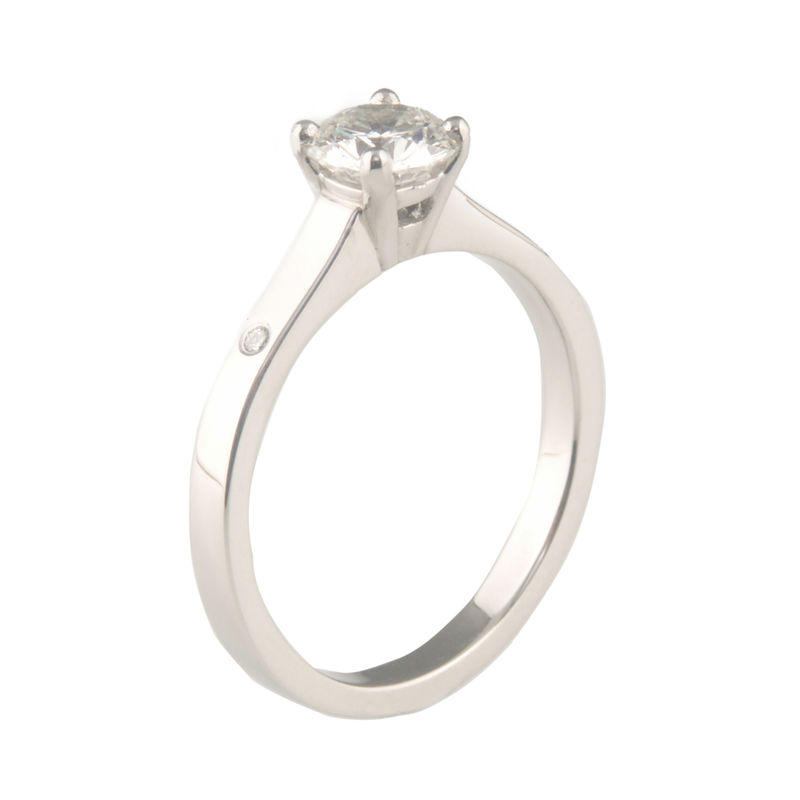 'Bridal & Bespoke' - Platinum round brilliant cut diamond ring - product images  of