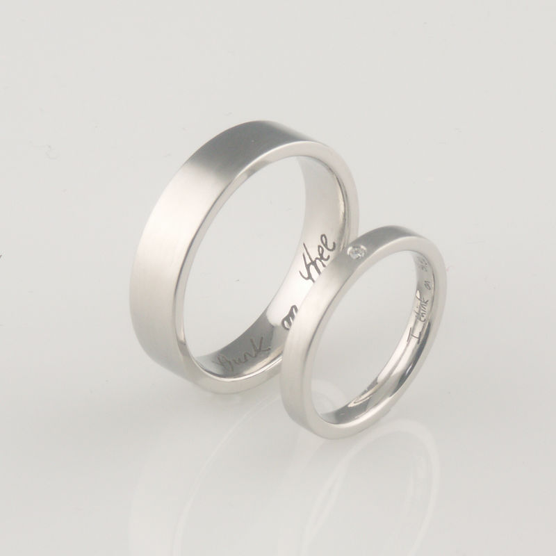 'Bridal & Bespoke' - Palladium wedding ring set  - product images  of