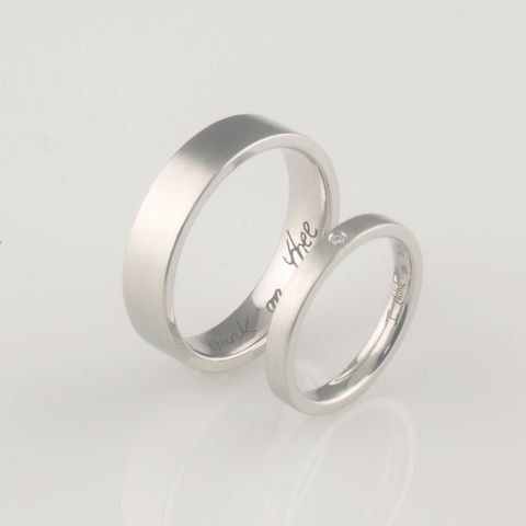 'Bridal,&,Bespoke',-,Palladium,wedding,ring,set, wedding rings,  bridal jewellery, wedding, ring, palladium, diamond
