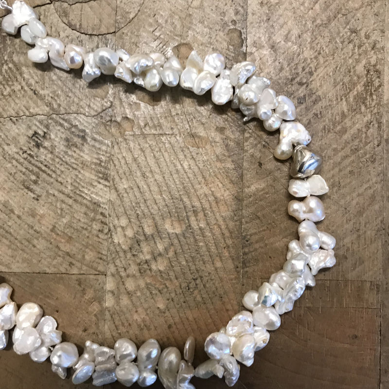 'Pearl Wonder' - Long cluster baroque pearl necklace  - product images  of