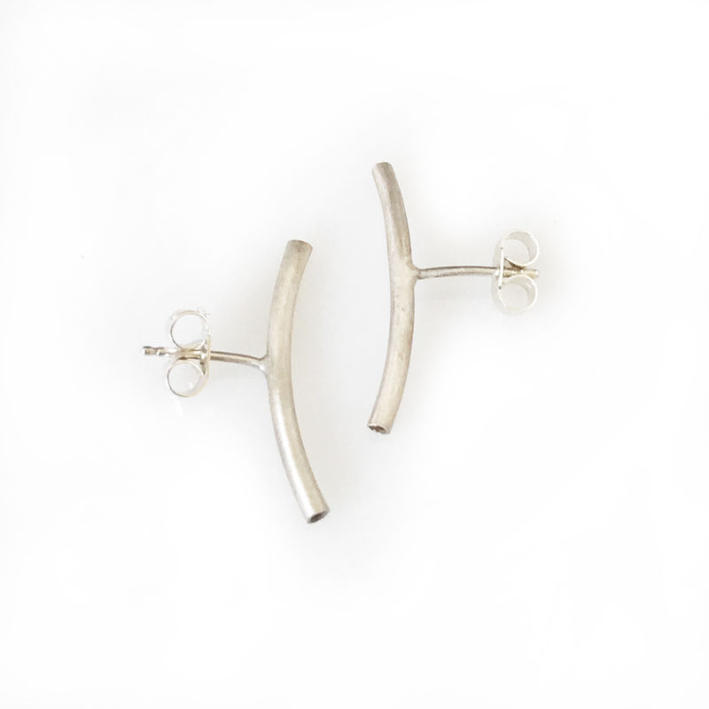 'Special Offer' - Silver tube ear studs - product images  of