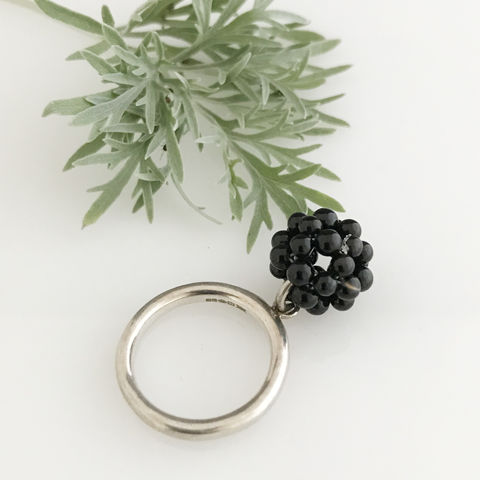 'Wearing,Nature',-,Silver,ring,with,the,cluster,of,onyx,contemporary jewellery, ring, coral, gift, coral cluster, wearing nature, nature, summer outfits