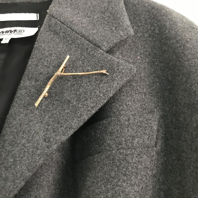 'Wearing Nature' - Rose gold Twig brooch  - product images  of